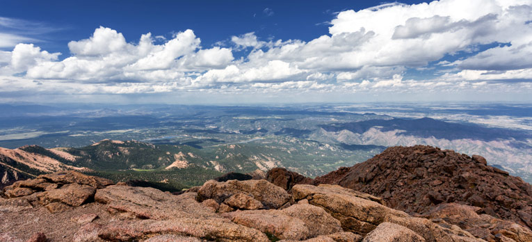 Picture from the top of Pikes Peak in Colorado.
