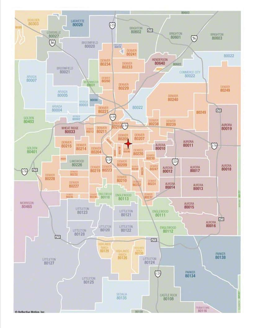 denver zip code map | CSTCM